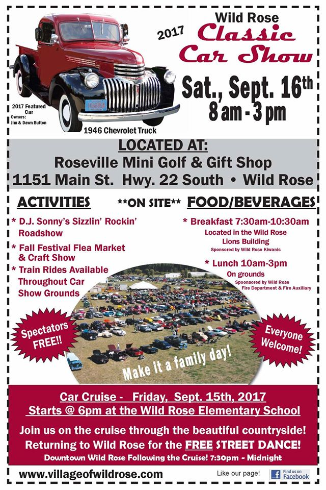 Search For Car Show Village Of Wild Rose Waushara County Wisconsin - Market street car show